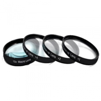 4 Piece High Definition Macro Lens Filters (+1, +2, +4, +10) HDFX
