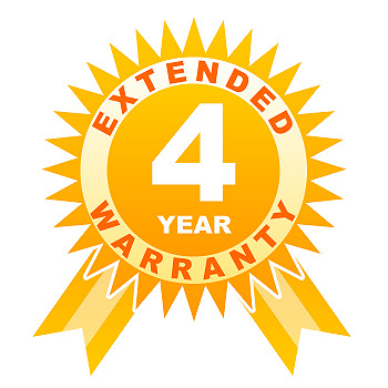 4 year warranty for lenses under 250