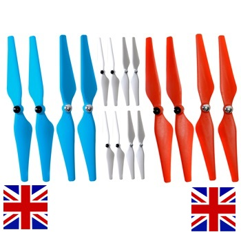 Union Jack Red White & Blue Self-Tightening Propellers for All DJI Pha
