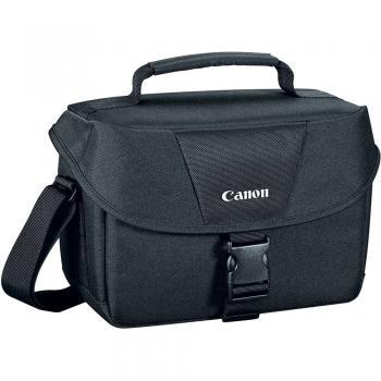 Canon 100ES Black Shoulder Bag for Digital Camera - Fits: Camera+2 Lenses+Flash