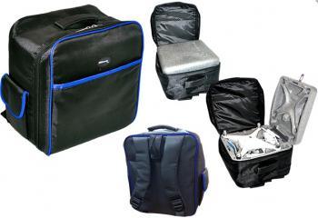 Ultimaxx Mini Nylon Padded Backpack Shell for all DJI Phantom 4 Quadco