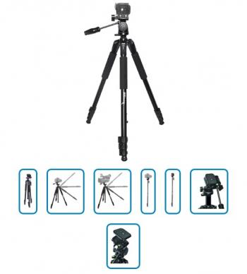 2 Meter Professional 2 IN 1 Convertible Tripod/Monopod