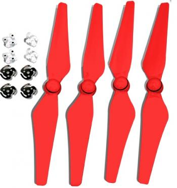 Ultimaxx Quick Release Propellers for Phantom 4 (Red)