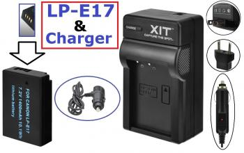 HDFX LP-E17 4-Hour Battery With Dual Charger