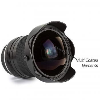 Ultimaxx 7mm f/3 HD Aspherical Fisheye Lens & Removable Hood Kit for N