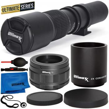 Ultimaxx High-Power 500mm/1000mm f/8 Manual Multi-Coated Preset Teleph