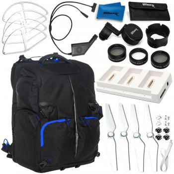 Deluxe Accessory Bundle for Phantom 4 Pro (White Guards)