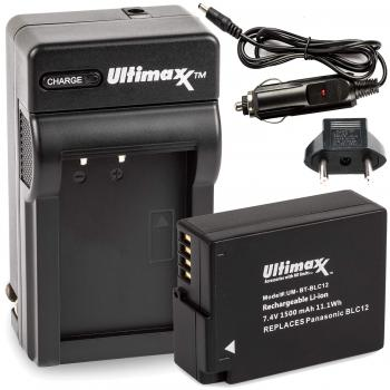 Ultimaxx AC/DC Rapid Home & Travel Charger with BLC12 Extended Life Ba