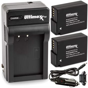 Ultimaxx AC/DC Rapid Home & Travel Charger with 2 BLC12 Extended Life