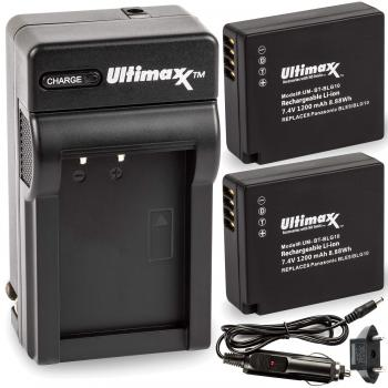Ultimaxx Rapid Travel Charger & 2 BLG10 Batteries