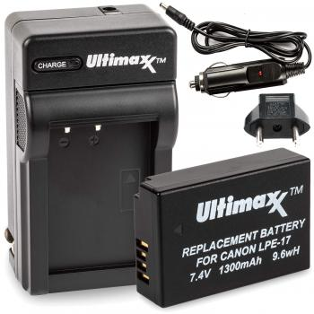 Ultimaxx AC/DC Rapid Home & Travel Charger with LP-E17 Extended Life B