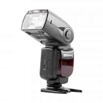 Ultimaxx TTL Dedicated Flash with LCD & Case for Canon