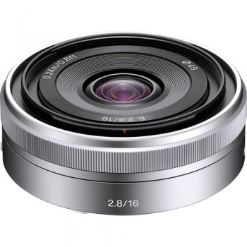 Sony E-Mount 16mm f/2.8 Wide-Angle Alpha E-Mount Lens (Silver) for Son