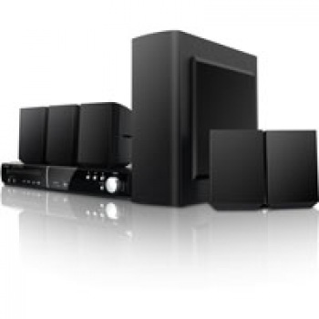 Coby DVD938 5.1CH DVD Home Theater System w/AM/FM,USB,SD, Dual Microphone Inputs (Black) (USA MODEL *CONVERTER NOT INCLUDED)