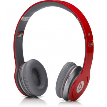 129472 Monster Power Beats by Dr  Dre Solo HD On-Ear Headphones with  ControlTalk (Red)