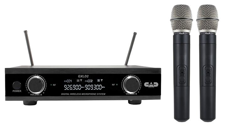CAD Digital Dual Channel Wireless System Dual Handheld Microphone Syst