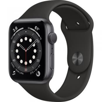 Apple Watch Series 6 (GPS 44mm Space Gray Aluminum Black Sport Band)
