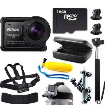 Nikon KeyMission 170 4K Action Camera + Bundle Kit