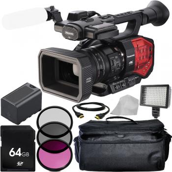 Panasonic AG-DVX200 4K Handheld Camcorder with Four Thirds Sensor and Integrated Zoom Lens Basic Package with Extra Battery