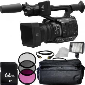 Panasonic AG-UX90 4K/HD Professional Camcorder with Accessory Bundle