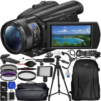 Sony FDR-AX700 4K Camcorder with Accessory Bundle