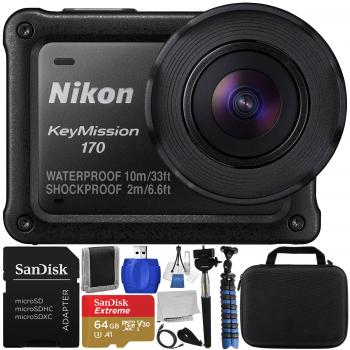 Nikon KeyMission 170 4K Action Camera with Accessory Bundle
