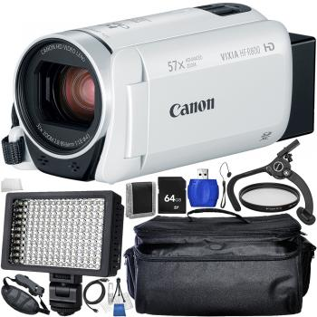 Canon VIXIA HF R800 Camcorder (White) - Starters Bundle
