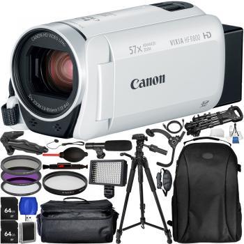 Canon VIXIA HF R800 Camcorder (White) - Pro Bundle