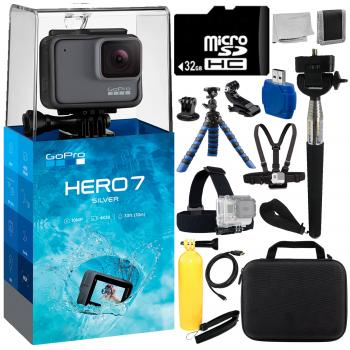 GoPro HERO7 (Silver) with 13 PC Professional Bundle Deal