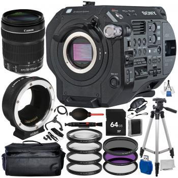 Sony PXW-FS7M2 XDCAM Super 35 Camera System + Metabones Canon to Sony E Mount + Canon EF-S 18-135mm with 15 PC Accessory Bundle