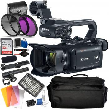 Canon XA11 Compact Full HD Camcorder with HDMI and Composite Output (PAL) Accessory Bundle