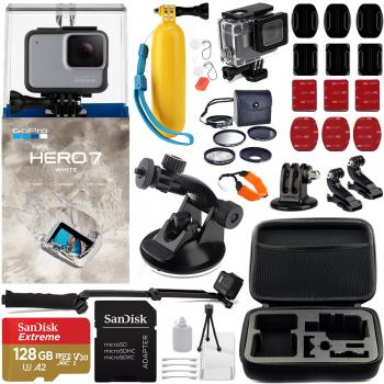 Gopro Hero7 White - CHDHB-601 with Must Have Accessory Bundle