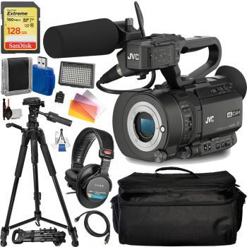 JVC GY-LS300 4KCAM Handheld S35mm Camcorder (Body Only) - JVCGYLS300 Must Have Bundle