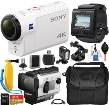 Sony FDR-X3000 Action Camera with Live-View Remote - FDRX3000R/W and Must Have Bundle