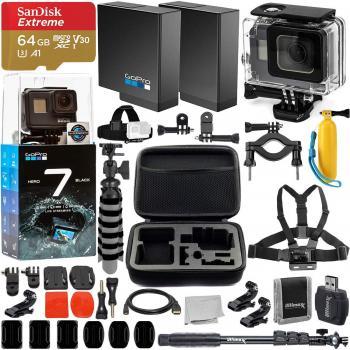 GoPro HERO7 Black Action Camera - CHDHX-701 Super Bundle