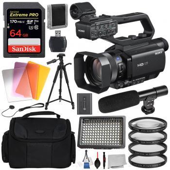 Sony HXR-MC88 Full HD Camcorder with Essential Bundle