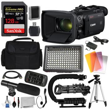 Canon Vixia HF G60 UHD 4K Camcorder - 3670C002 with Deluxe Bundle