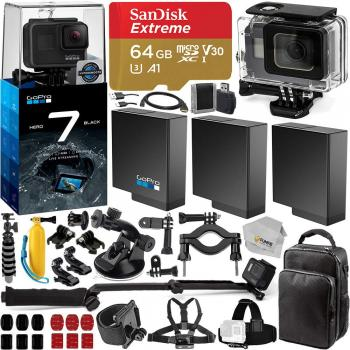 GoPro HERO7 Black - CHDHX-701 with Accessory Bundle