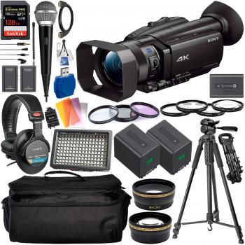 Sony FDR-AX700 4K Camcorder - FDR-AX700/B with Deluxe Accessory Bundle