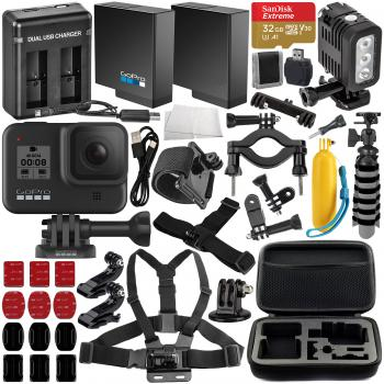 GoPro HERO8 Action Camera (Black) with Deluxe Accessory Bundle