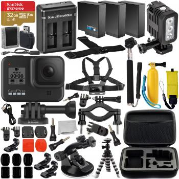 GoPro HERO8 Action Camera (Black) with Premium Accessory Memory Bundle
