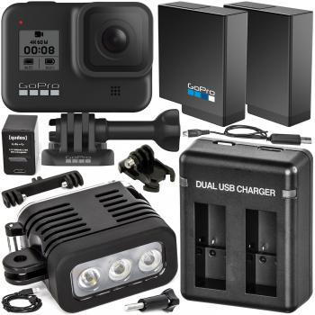 GoPro HERO8 Action Camera (Black) with Extended-Life Accessory Bundle