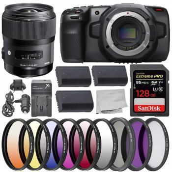Blackmagic Design Pocket Cinema Camera 6K - CINECAMPOCHDEF6K with Sigm