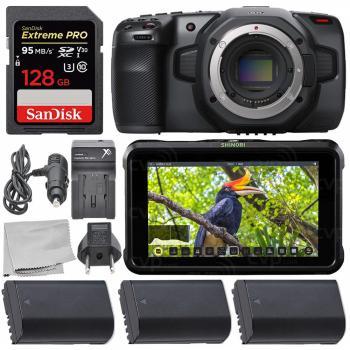 Blackmagic Design Pocket Cinema Camera 6K - CINECAMPOCHDEF6K with Atom