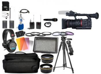 Panasonic AG-CX350 4K Camcorder with Deluxe Accessory Bundle
