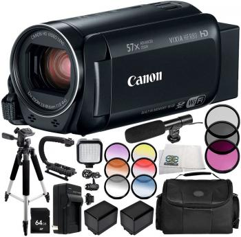Canon VIXIA HF R80 Camcorder 13PC Accessory Bundle – Includes 64GB S