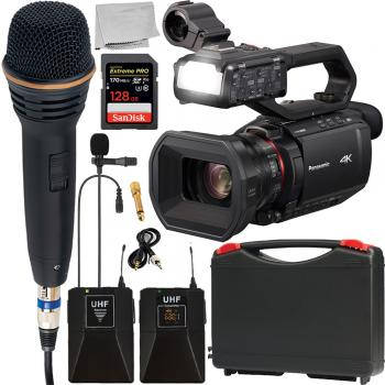 Panasonic AG-CX10 4K Camcorder with NDI/HX and Wireless Microphone Kit