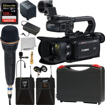 Canon XA45 Professional UHD 4K Camcorder and Wireless Microphone Kit
