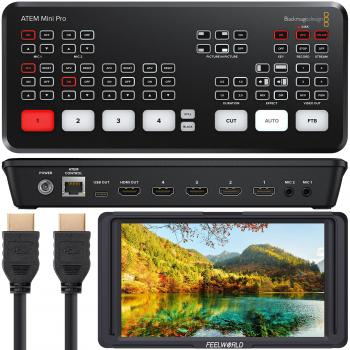 Blackmagic Design ATEM Mini Pro HDMI Live Stream Switcher with 12V Pow