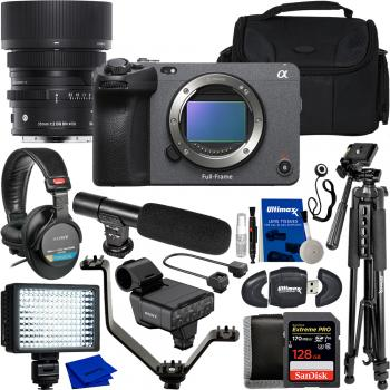 Sony FX3 Full-Frame Cinema Camera with Sigma 35mm f/2 DG DN Contempora